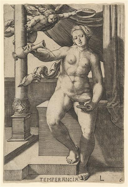 Temperance (temperancia), 1530 - Lucas van Leyden