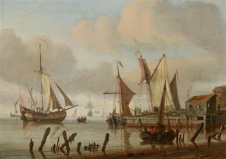 Boats at a Mooring Place, 1683 - Abraham Storck