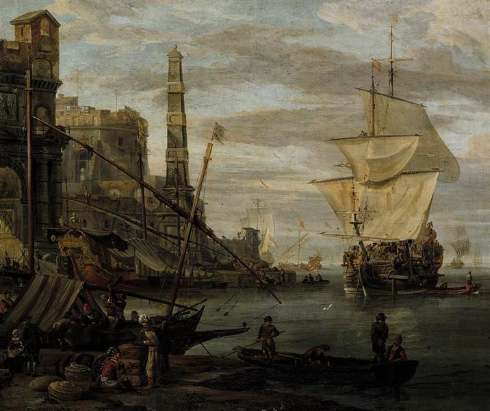 Harbour Scene - Abraham Storck
