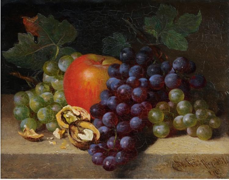 Still Life with Fruits, 1870 - Adalbert Schaffer
