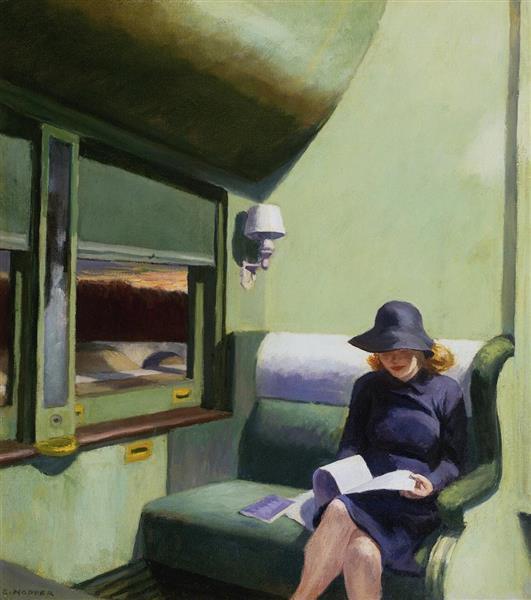 Compartment Car, 1938 - Edward Hopper