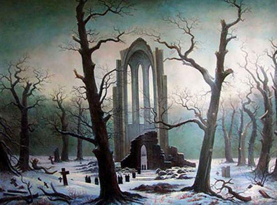 Monastery ruins in the snow, 1819 - Caspar David Friedrich