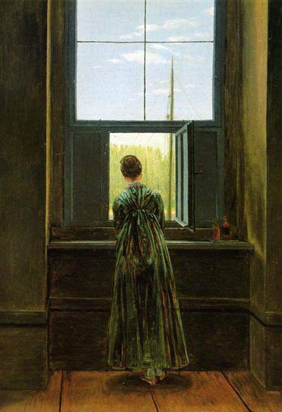 Woman at a Window, 1822 - Caspar David Friedrich