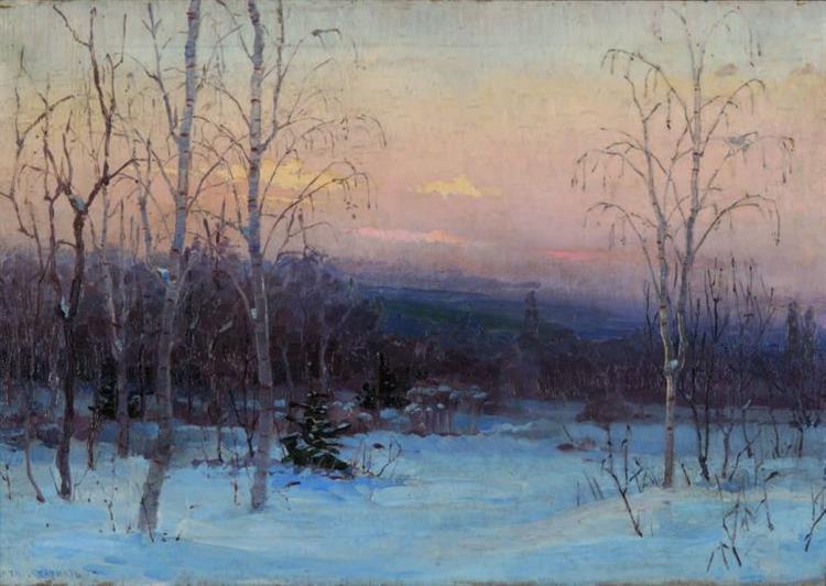 Winter landscape with birch trees - Simeon Velkov