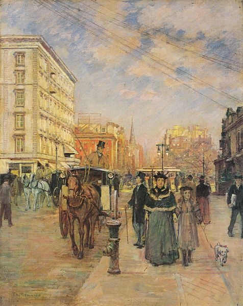Fifth Avenue at Madison Square, c.1894 - c.1895 - Theodore Robinson
