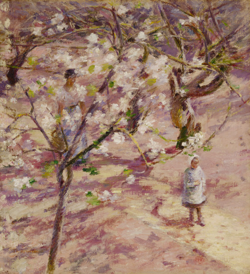 Blossoms at Giverny., c.1891 - c.1893 - Theodore Robinson