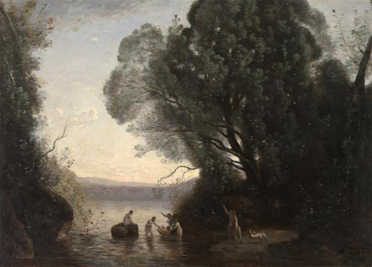 The Bath of Diana, 1855 - Camille Corot