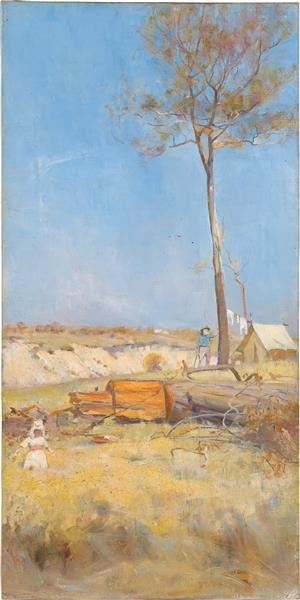 Under a Southern Sun (Timber Splitter's Camp), 1890 - Charles Conder
