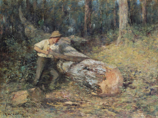 Sawing Timber, 1907 - Frederick McCubbin