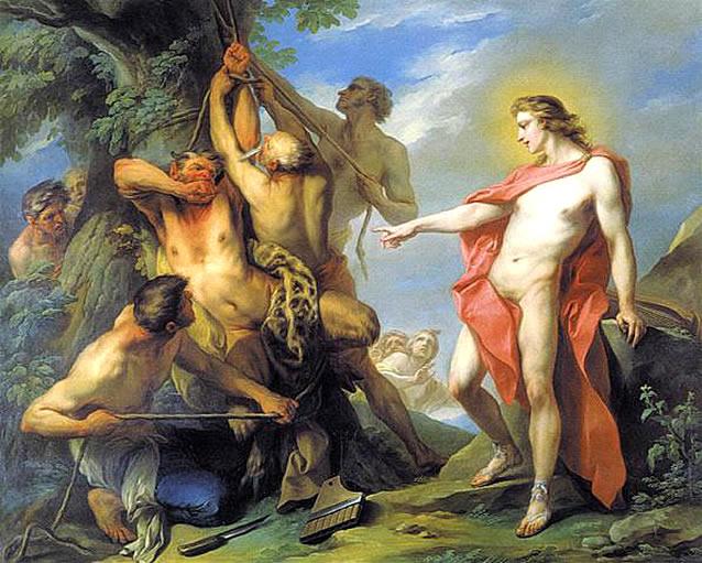 Marsyas Flayed by the Order of Apollo, 1735 - Шарль Андре Ван Лоо