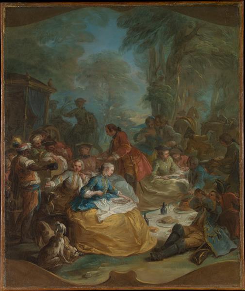 The Hunt Breakfast, 1737 - Шарль Андре Ван Лоо