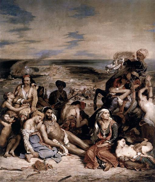 Scènes des massacres de Scio, 1824 - Eugène Delacroix