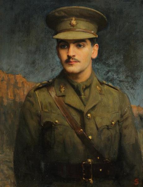 Portrait of Deceased Captain Seymour Jacob Henry Van Den Bergh - Solomon Joseph Solomon