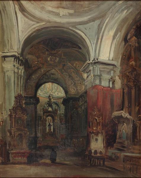 La Capilla De San Isidro En La Iglesia De San Andrés De Madrid, 1843 - Jenaro Pérez Villaamil
