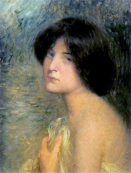 Retrat De Dona O Melanconia, 1900 - Joan Brull