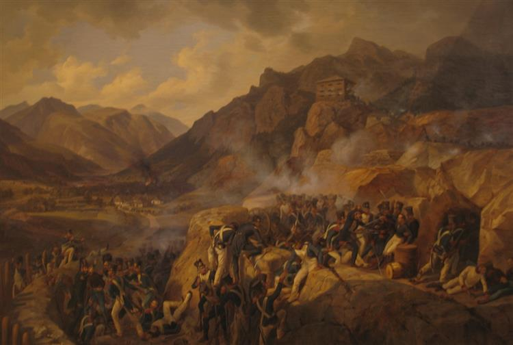 Storming of Malborghetto Fort 1809, 1843 - Albrecht Adam