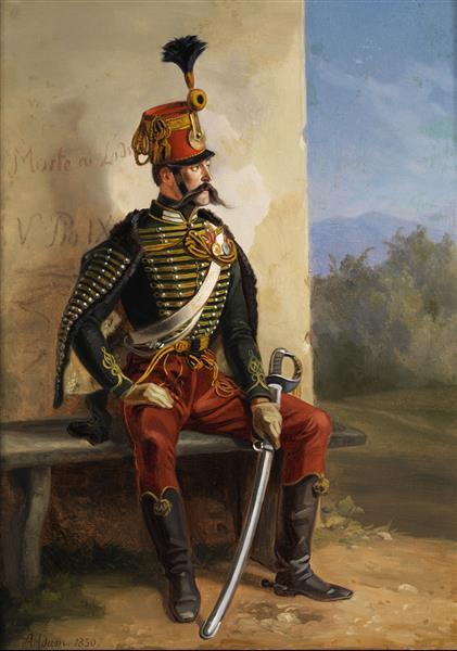 Soldier at rest, 1850 - Albrecht Adam