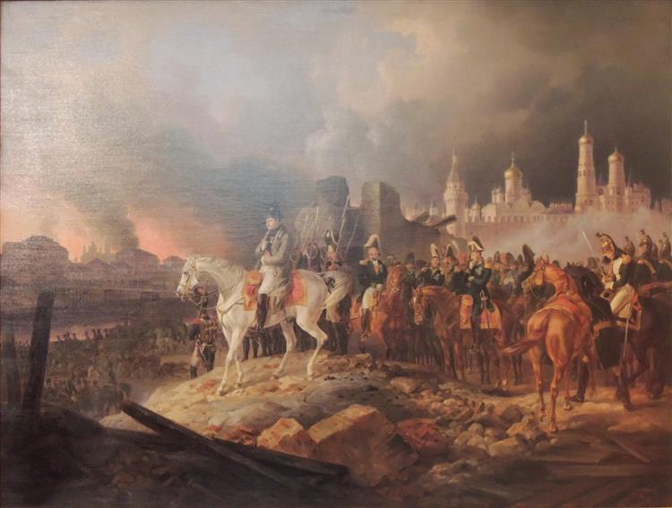 Napoleon In Burning Moscow, 1841 - Albrecht Adam