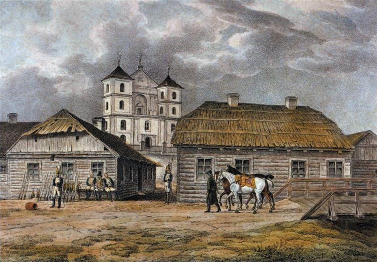 Troki. Catholic church of St. Mary, 1812 - Albrecht Adam