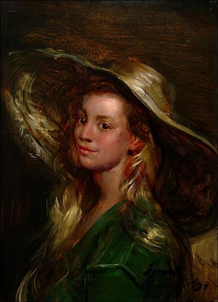 Girl in Straw Hat, 1994 - Frank Mason