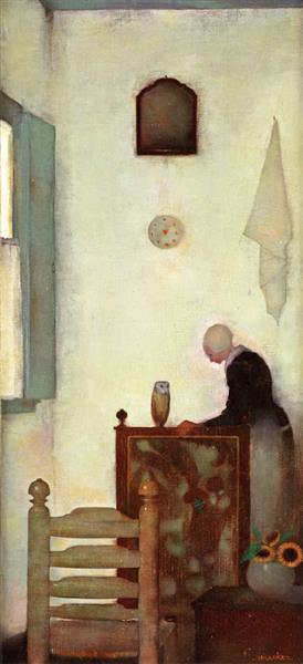 Mother in Interior, 1912 - Jan Mankes