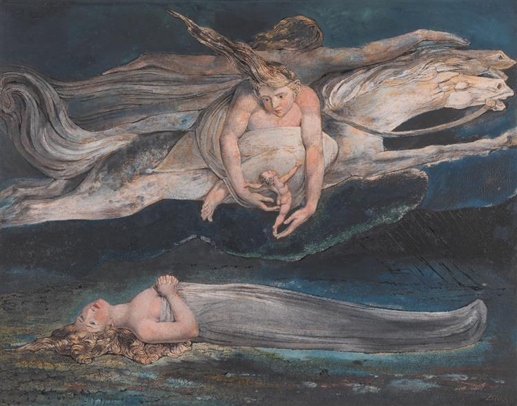 Illustration to Dante's Divine Comedy (Pity), 1795 - William Blake