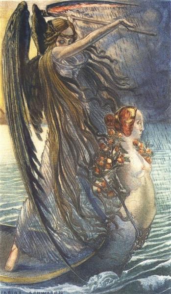 Mort, 1900 - Carlos Schwabe