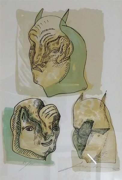 Tres Cabezas con Cuernos - José Luis Cuevas