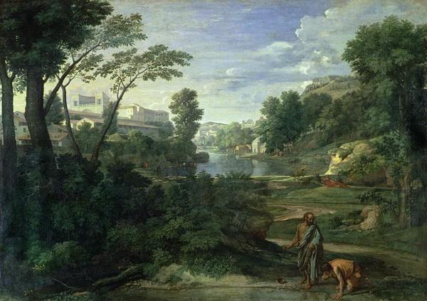 Landscape with Diogenes, c.1647 - Nicolas Poussin