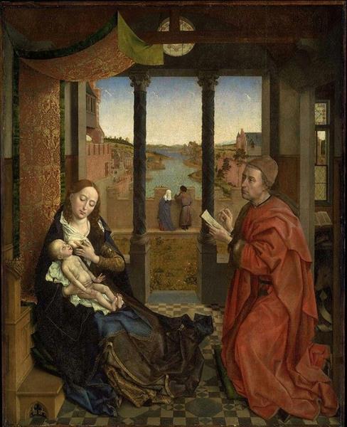 St. Luke Drawing a Portrait of the Virgin Mary, 1435 - 1440 - Rogier van der Weyden