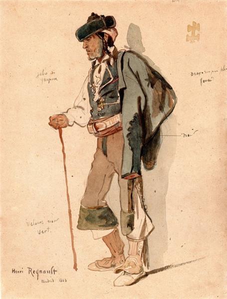 The madrilenian, 1868 - Henri Regnault