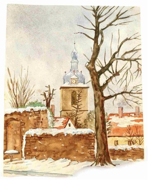 Winter Clock Tower, 1909 - 1910 - Адольф Гітлер