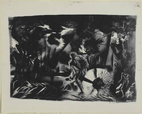 Figures in a Landscape, 1937 - Jackson Pollock