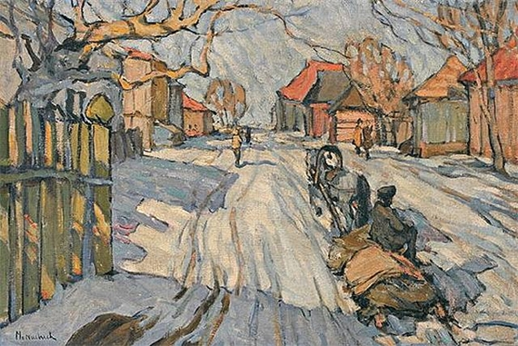 Troika in the Snow, 1910 - Abraham Manievich
