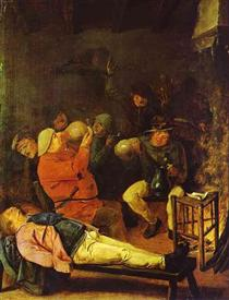 Scene at the Inn - Adriaen Brouwer