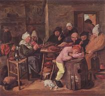 The Schlachtfest - Adriaen Brouwer