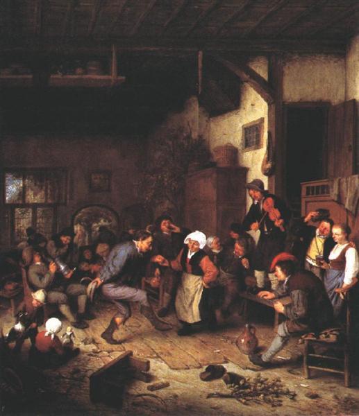 Merrymakers in an Inn, 1674 - Adriaen van Ostade