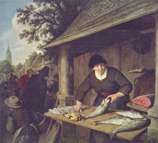The Fishwife, 1672 - Adriaen van Ostade
