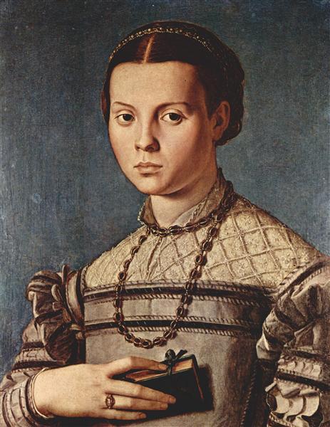 Portrait of a girl with book, 1545 - Agnolo Bronzino