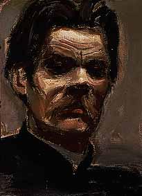 Portrait of Maxim Gorky, 1906 - Akseli Gallen-Kallela