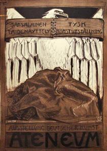 Poster for the German Exposition of Art in Ateneum - Akseli Gallen-Kallela