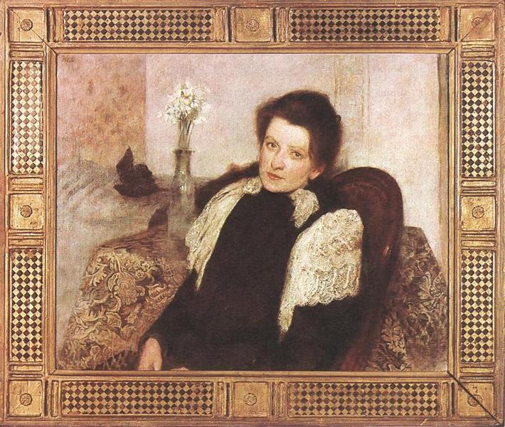 Portrait of the Artist's Wife, 1896 - Aladar Korosfoi-Kriesch