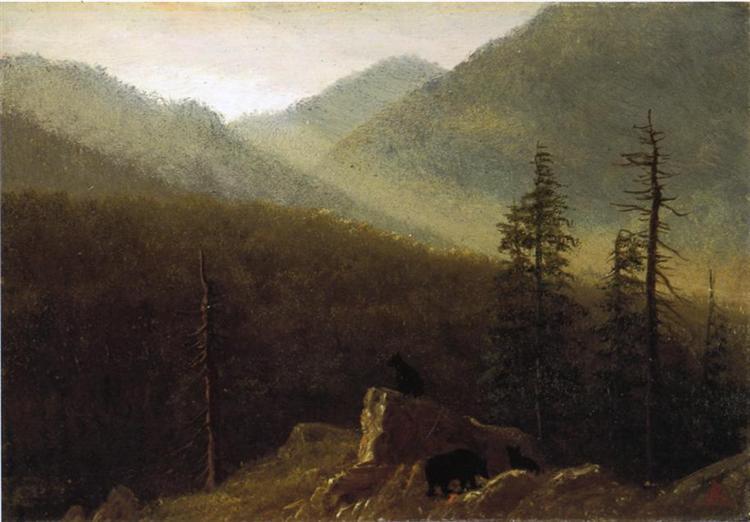 Bears in the Wilderness, c.1870 - Albert Bierstadt