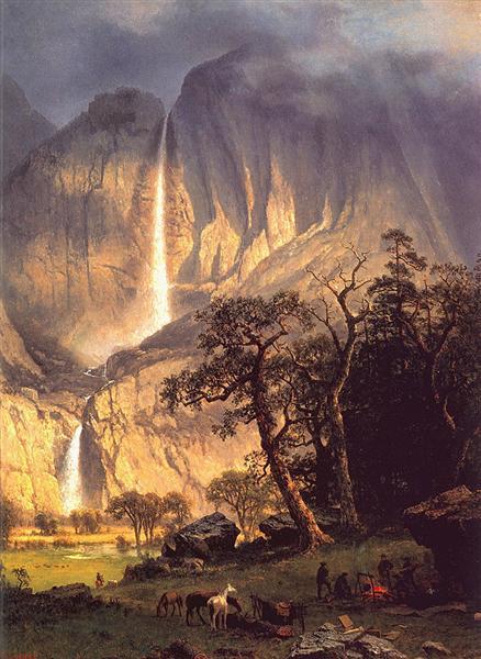 Cho Looke The Yosemite Fall 1864 Albert Bierstadt