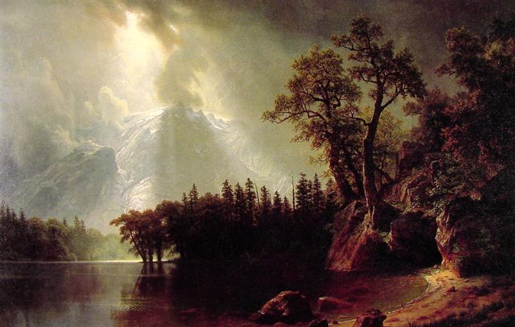 Passing Storm over the Sierra Nevada, 1870 - Albert Bierstadt