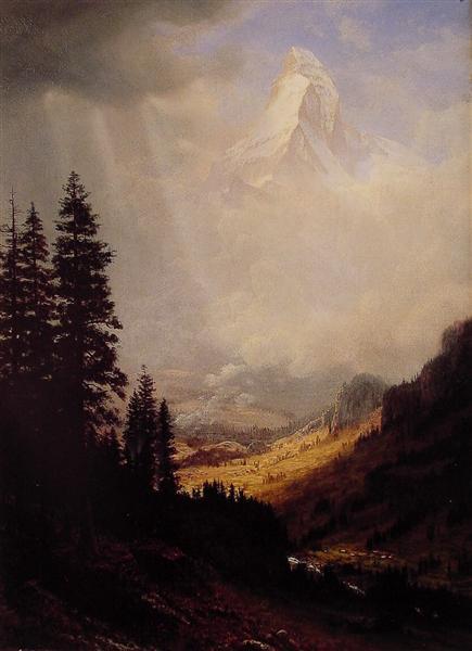 The Matterhorn, 1850 - Albert Bierstadt