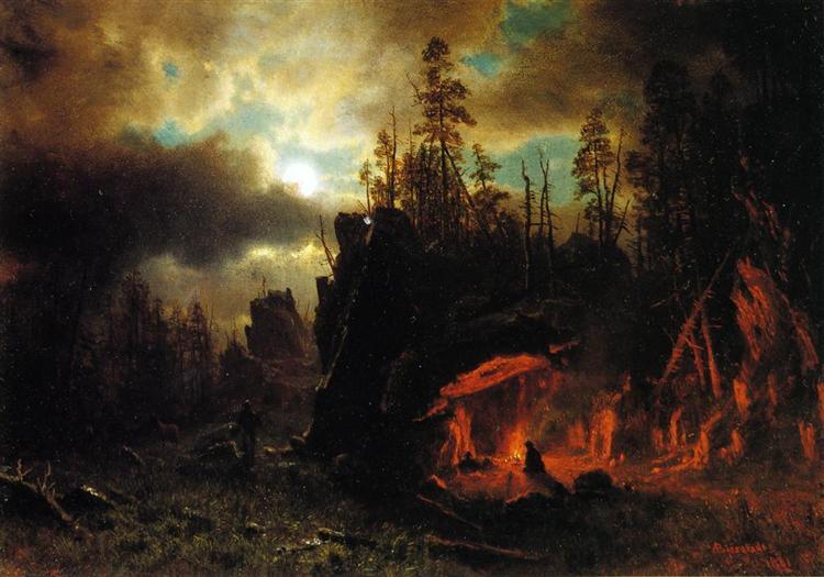 The Trapper's Camp, 1861 - Albert Bierstadt