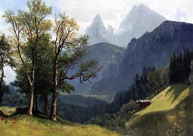 Tyrolean Landscape, 1868 - Albert Bierstadt