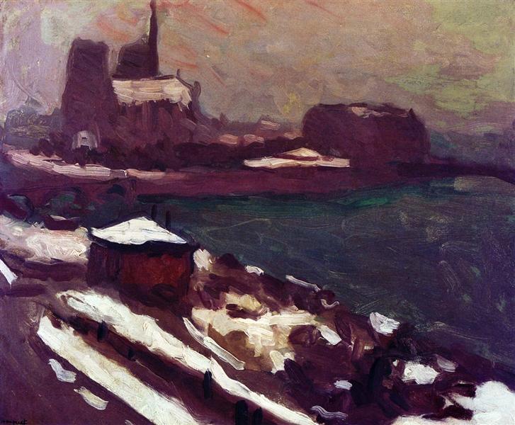 Notre-Dame in Winter - Albert Marquet