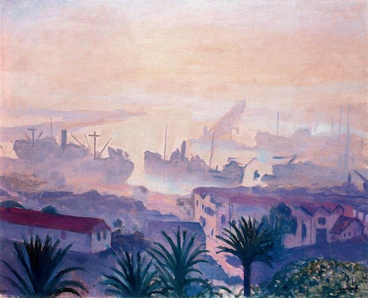 The Port of Algiers with Haze, 1943 - Альбер Марке